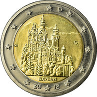 République Fédérale Allemande, 2 Euro, BAYERN, 2012, SPL, Bi-Metallic, KM:305 - Germany