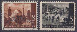 CROAZIA - 1941 - Lotto Di 2 Valori Usati: Yvert 38 E 41. - Croacia