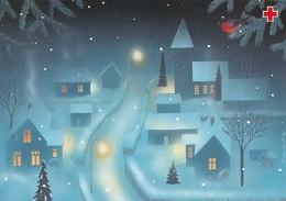 Postal Stationery - Bird - Bullfinch - Winter Landscape By Jaana Aalto - Red Cross 1999 - Suomi Finland - Postage Paid - Ganzsachen