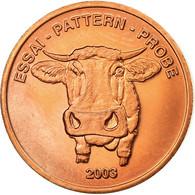 Suisse, Fantasy Euro Patterns, 2 Euro Cent, 2003, SUP, Laiton - EURO