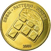 Suisse, Fantasy Euro Patterns, 10 Euro Cent, 2003, SUP, Laiton - EURO
