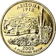 Monnaie, États-Unis, Arizona, Quarter, 2008, U.S. Mint, Dahlonega, SUP+ - Federal Issues