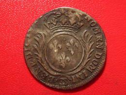 France - 1/12 Aux Palmes ND (probablement 1697) CC Besancon Louis XIV - Atelier Très Rare 2948 - 987-1789 Monnaies Royales