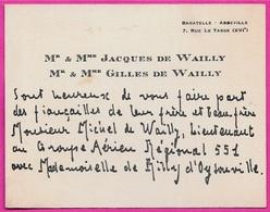 Carte FAIRE-PART De FIANCAILLES Mr Mme JACQUES & GILLES DE WAILLY Bagatelle 75016 Paris - Verloving