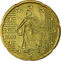 France, 20 Euro Cent, 2000, TTB, Laiton, KM:1286 - France