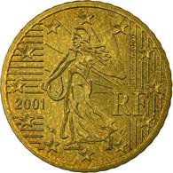 France, 50 Euro Cent, 2001, TTB, Laiton, KM:1287 - France
