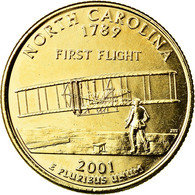 Monnaie, États-Unis, North Carolina, Quarter, 2001, U.S. Mint, Denver, Golden - Federal Issues