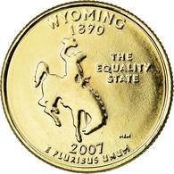 Monnaie, États-Unis, Wyoming, Quarter, 2007, U.S. Mint, Denver, Golden, SUP+ - Federal Issues