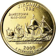 Monnaie, États-Unis, Virginia, Quarter, 2000, U.S. Mint, Philadelphie, Golden - Federal Issues