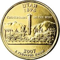 Monnaie, États-Unis, Utah, Quarter, 2007, U.S. Mint, Denver, Golden, SPL - Federal Issues