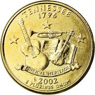 Monnaie, États-Unis, Tennessee, Quarter, 2002, U.S. Mint, Philadelphie, Golden - Federal Issues