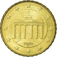 République Fédérale Allemande, 10 Euro Cent, 2002, TTB, Laiton, KM:210 - Germany