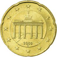 République Fédérale Allemande, 20 Euro Cent, 2002, TTB, Laiton, KM:211 - Germany