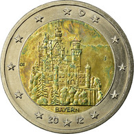 République Fédérale Allemande, 2 Euro, BAYERN, 2012, TTB, Bi-Metallic, KM:305 - Germany