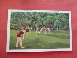 Females Playing Coconut Bowling  Florida   Ref  3476 - Bowling