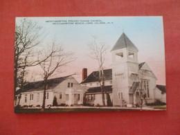 Hand Colored  Presbyterian Church  Westhampton Beach - New York > Long Island  >   Ref  3476 - Long Island