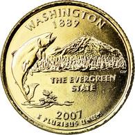Monnaie, États-Unis, Washington, Quarter, 2007, U.S. Mint, Denver, Golden - Federal Issues