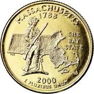 Monnaie, États-Unis, Massachusetts, Quarter, 2000, U.S. Mint, Denver, Golden - Federal Issues