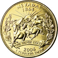 Monnaie, États-Unis, Nevada, Quarter, 2006, U.S. Mint, Denver, Golden, SUP+ - Federal Issues