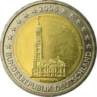 République Fédérale Allemande, 2 Euro, Cathédrale D'Hambourg, 2008, SPL - Germany