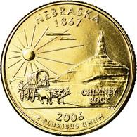 Monnaie, États-Unis, Nebraska, Quarter, 2006, U.S. Mint, Philadelphie, Golden - Federal Issues