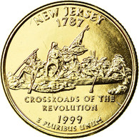 Monnaie, États-Unis, New Jersey, Quarter, 1999, U.S. Mint, Denver, Gold-plated - Federal Issues