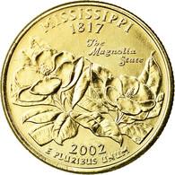Monnaie, États-Unis, Mississippi, Quarter, 2002, U.S. Mint, Denver, Golden - Federal Issues