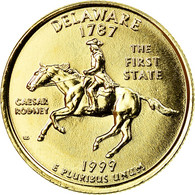 Monnaie, États-Unis, Delaware, Quarter, 1999, U.S. Mint, Philadelphie, Golden - Federal Issues