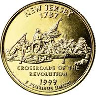 Monnaie, États-Unis, New Jersey, Quarter, 1999, U.S. Mint, Denver, Golden, SUP - Federal Issues