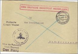 Durch Deutsche Dienstpost Niederlande -  - Führer Des Postschutzes - Deutschland