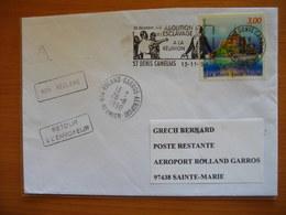 Réunion : Pli Des Camélias De 1998 Avec Griffes Diverses «Retour à L'envoyeur» Et «Non Réclamé» - Réunion (1852-1975)