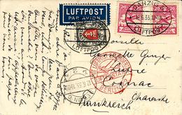 1932- Postkarte From Danzig LUFTPOST Fr. 65 P. To Cognac ( France - Danzig