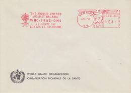 Enveloppe  Flamme   Mécanique   U.S.A   Eradication  Du  Paludisme  Malaria    NEW  YORK   1962 - Disease
