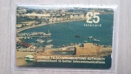 Telefonkarte Auds Zypern - Mit Einer Hafenansicht - Cyprus