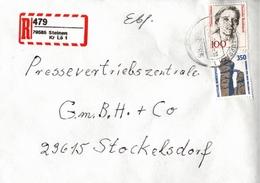 ! 1 Einschreiben  , Mit Selbstklebenden  R-Zettel  Aus 79585 Steinen B. Lörrach - [7] République Fédérale