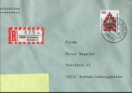 ! 1 Einschreiben Mit  R-Zettel  Aus 79639 Grenzach Wyhlen - R- & V- Vignette