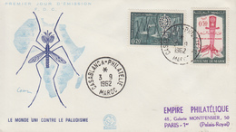 Enveloppe  FDC  1er  Jour   MAROC    Eradication  Du  Paludisme  Malaria   1962 - Disease