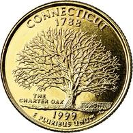 Monnaie, États-Unis, Connecticut, Quarter, 1999, U.S. Mint, Denver, Golden - Federal Issues