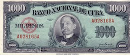 Cuba P.84 1000 Pesos 1950 Au++ - Cuba