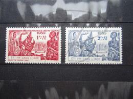VEND BEAUX TIMBRES D ' INDE N° 116 + 117 , X !!! - Indien (1892-1954)