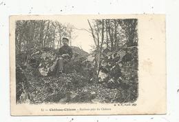 Cp , 58, CHATEAU CHINON , Rochers Près Du Chateau,  Voyagée 1907 - Chateau Chinon