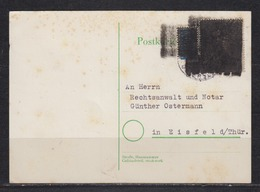 Bund Postkrieg MiNo. 165 Auf Karte Harsewinkel 1953 In Die DDR Mit Schwärzung - Lettres & Documents