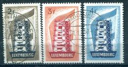 Europa/Cept Luxembourg 1956 3 Valeurs Obl. - 1956