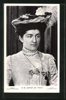 Cartolina Queen Of Italy, Königin Von Italien - Koninklijke Families