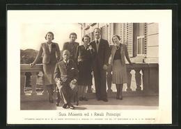 Cartolina Sua Maestà Ed Il Reali Principi, Königliche Familie Von Italien - Koninklijke Families