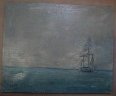 PDGL. 31. HST Dans Le Brouillard De Guy De Myttenaere, Signe Gédé. 1989. Dédicacée - Olieverf