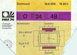 110719A - BILLET TICKET ENTREE FOOTBALL - COUPE DU MONDE 1974 ALLEMAGNE WM74 Stade DORTMUND Hollande Suède - Soccer