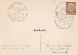 ALLEMAGNE ENTIER POSTAL PRIVE EXPOSITION TIMBRES BERLIN 1937 DEUTSCHES REICH 3 M  RARE !!! - Deutschland
