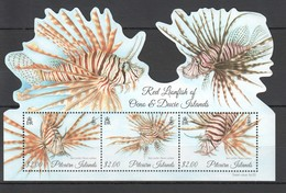 V412  2015 PITCAIRN ISLANDS MARINE LIFE FISH RED LIONFISH !!! MICHEL 12 EURO !!! 1KB MNH - Mundo Aquatico