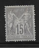 France Timbre De 1876 Type Sage  N°77 NSG  Cote 350€ - 1876-1898 Sage (Type II)